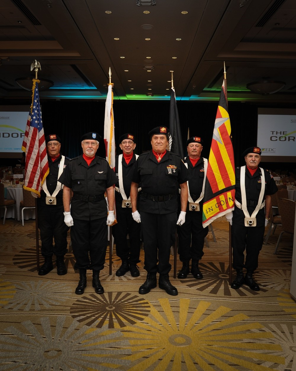 The Sarasota Chapter of the Vietnam Veterans Brotherhood graciously presented the colors to open the program, which was followed by a beautiful rendition of the National Anthem performed by a member of the Alpha Company's talented team.