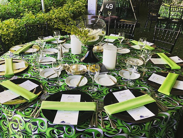 During setup for #2018FireflyGala this past Saturday 💚🖤 #eventplanning #MaryKenealyEvents #SarasotaEvents #srqevents #SRQ #lime #limedecor