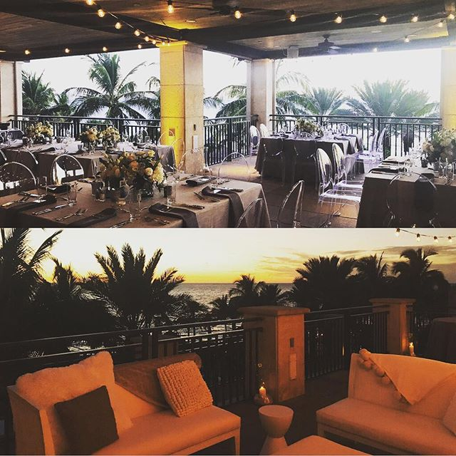How beautiful is this setup for our Thursday night Corporate client kick-off dinner at Ritz Carlton Beach Club on Lido?! Perfect weather all evening! Cocktails on low tides terrace and dinner on sunset terrace. Thanks to all of our vendors! @ritzcarltonsarasota @sostaged @botanicadesign @plantparentsfl @tigerlilyflorist @srqservicesllc #eventplanning #ritzcarlton #lido #sunset #sarasota