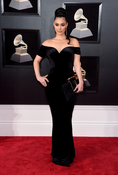 Actress Anabelle Acosta at the 2018 Grammys