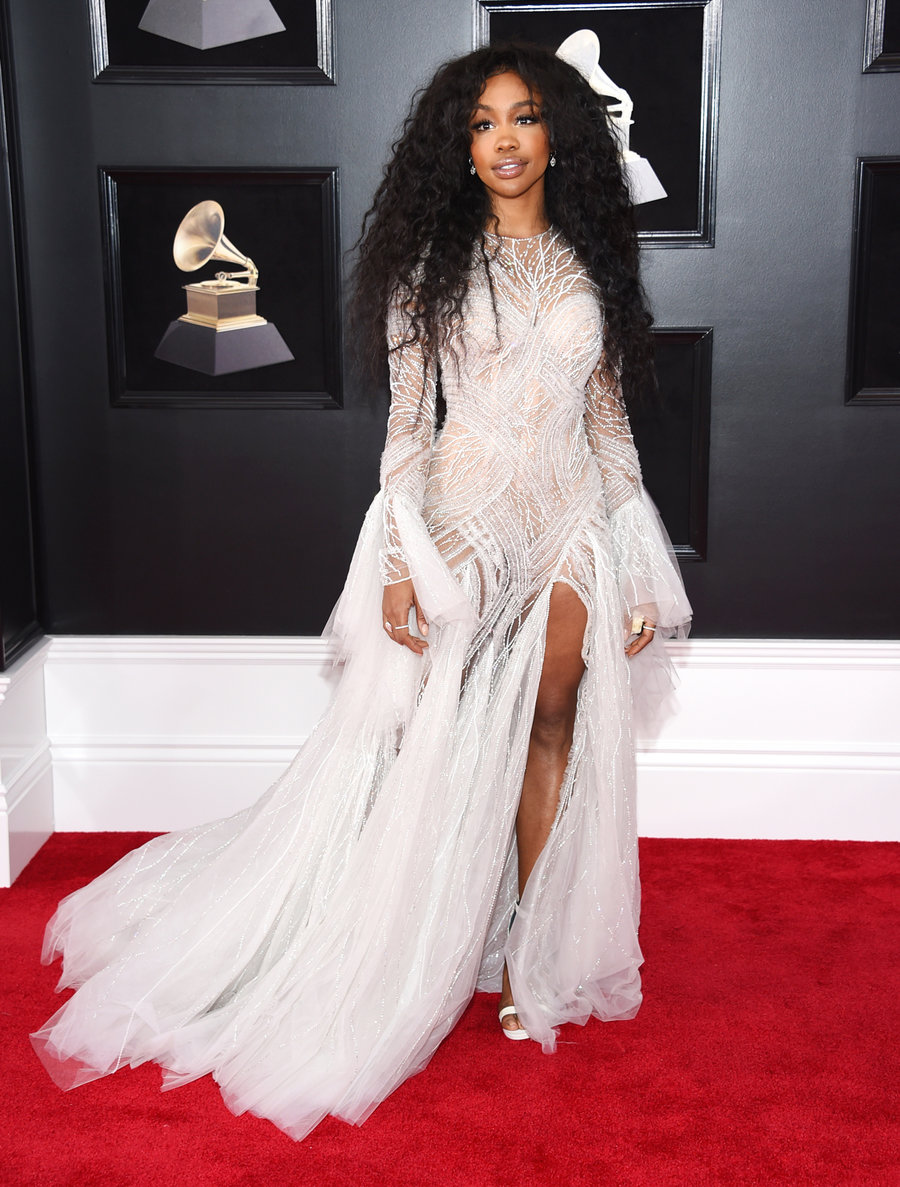 SZA at the 2018 Grammys