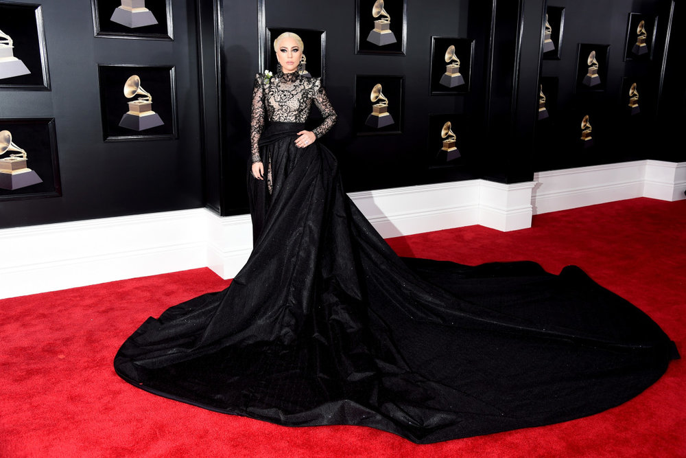 Lady Gaga at the 2018 Grammys