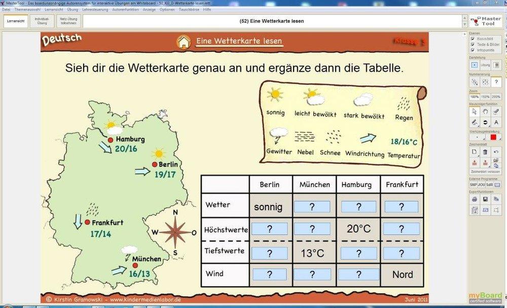 Charmant Wetterkarte Arbeitsblatt Bilder - Arbeitsblätter für ...