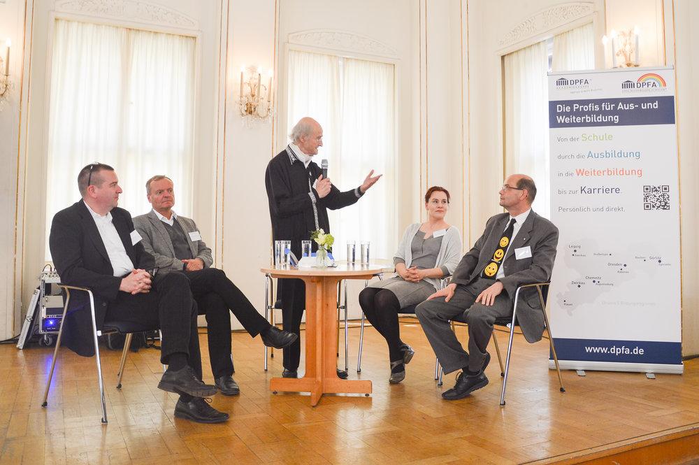 Podiumsdiskussion zum Zukunftsforum 2017 in Leipzig