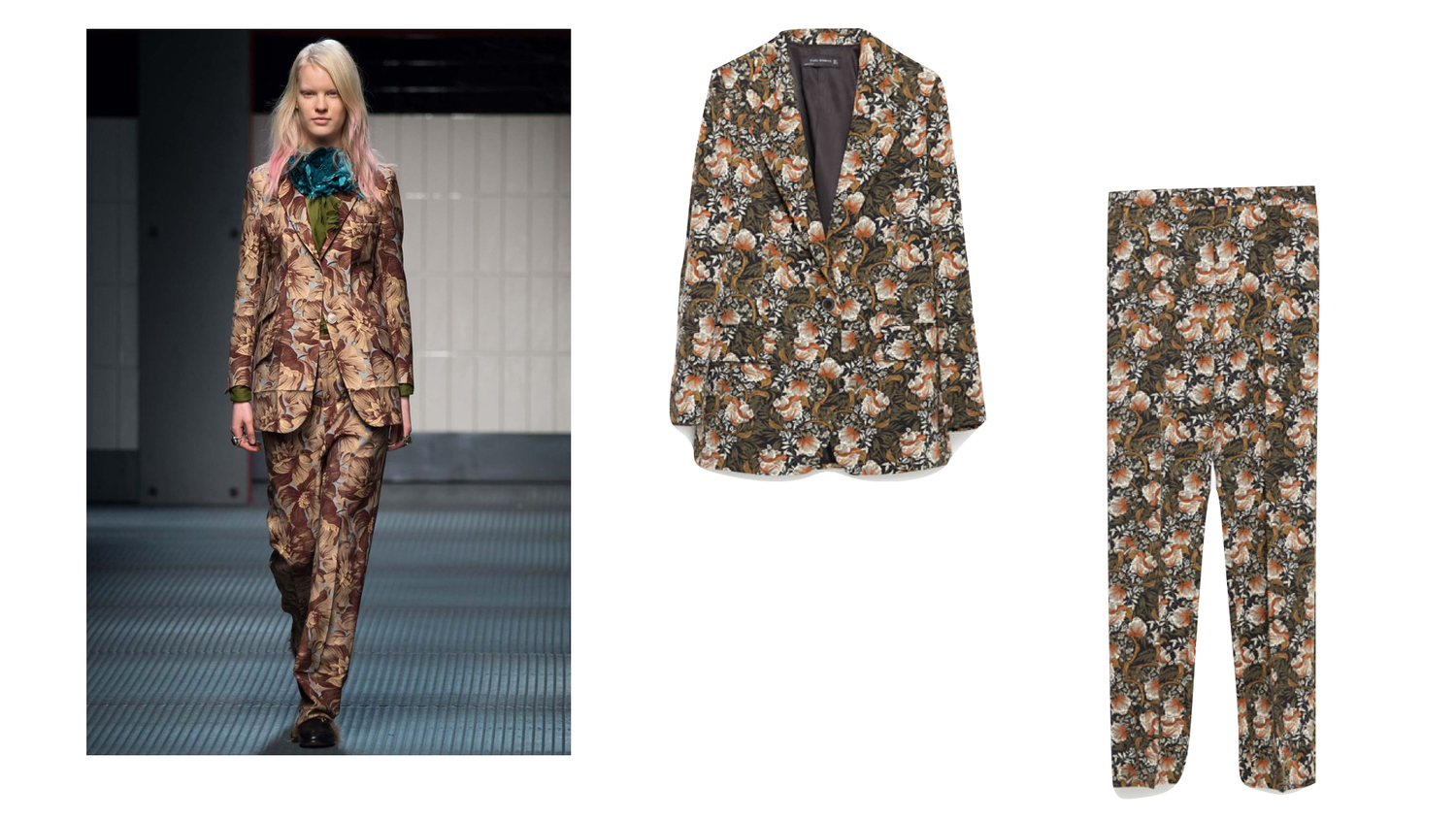 95885241f138 Zara floral print blazer was £69.99 now £29.99   Zara floral print trousers  was £39.99 now £12.99