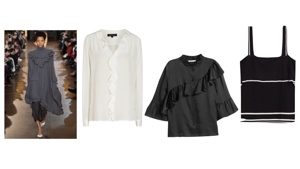 REISS WHITE BLOUSE  |  H&M BLACK BLOUSE   | ZARA KNITTED TOP