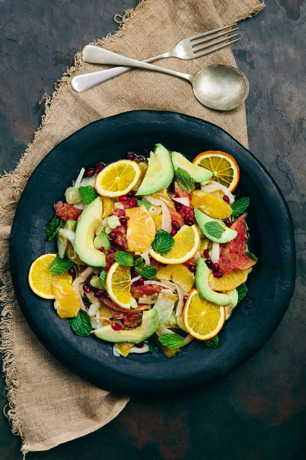 Citrus, Fennel and Avo salad