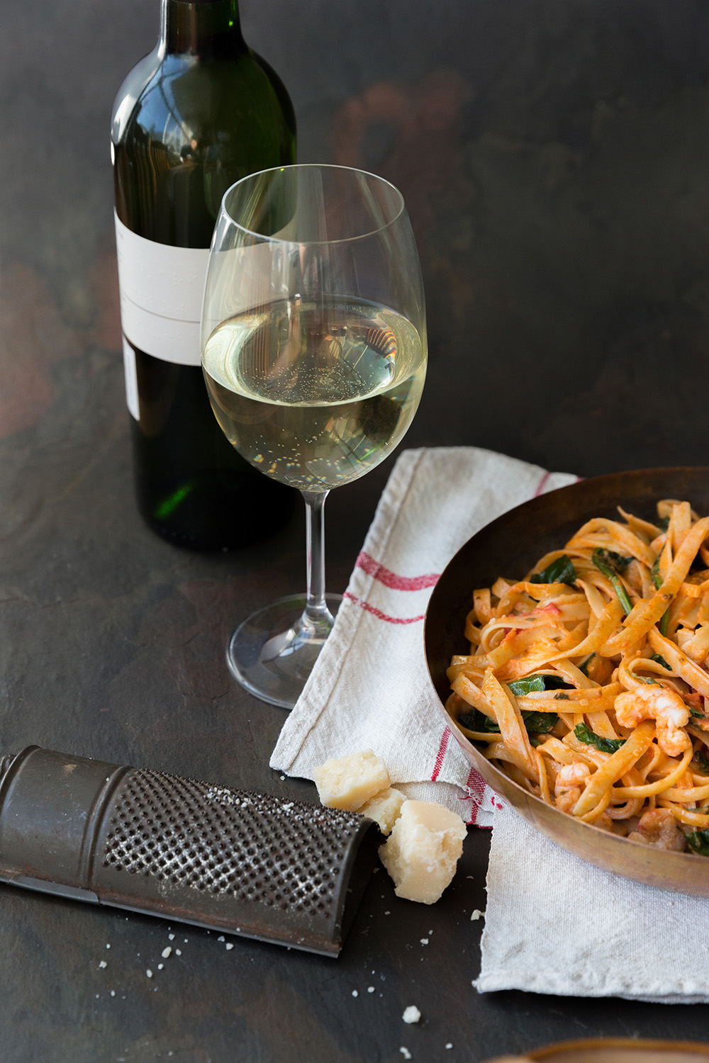 Prawn pasta to celebrate Sauvignon blanc