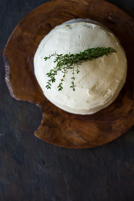 Lemon and thyme poppy seed cake