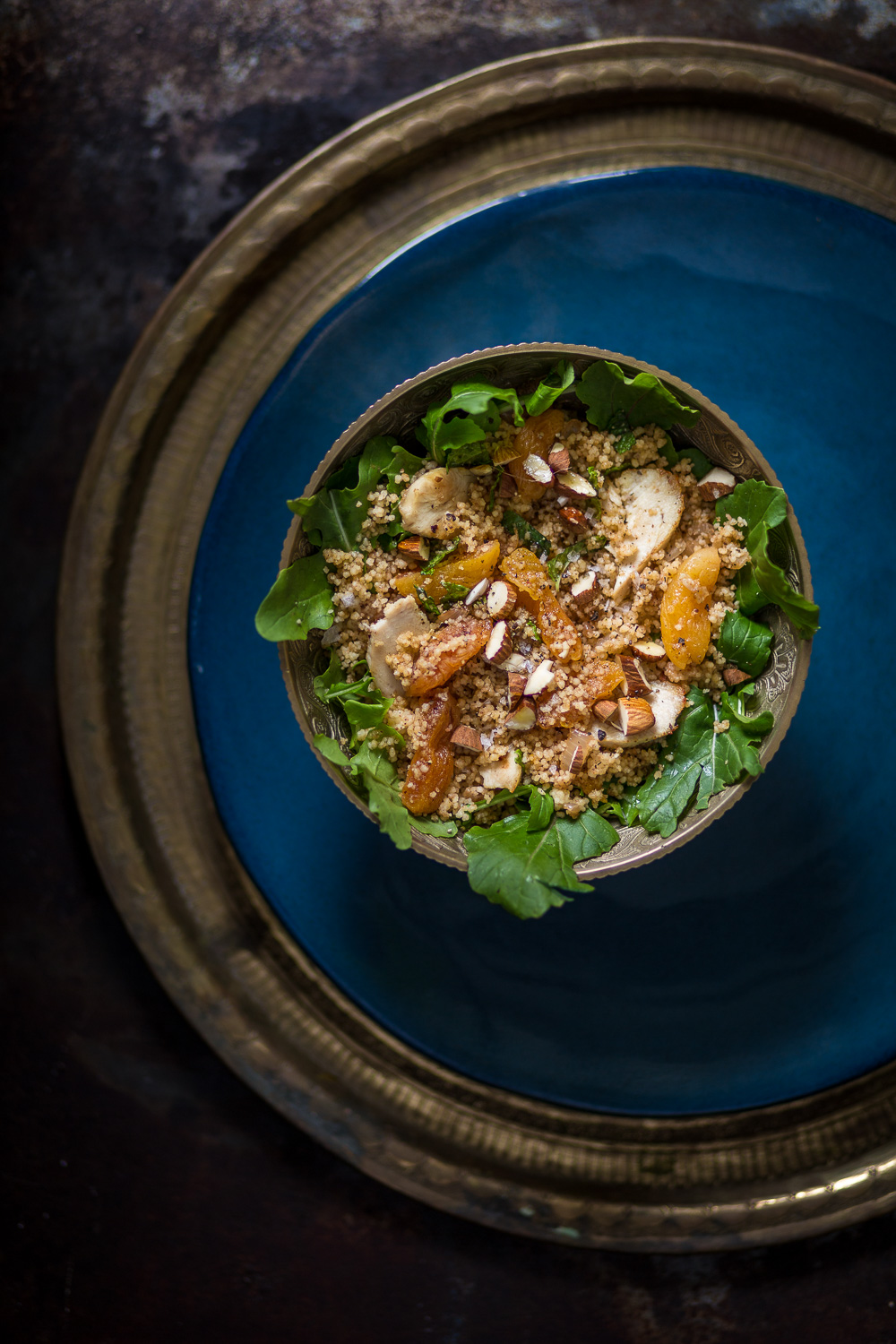 Greens, Couscous and Apricot bowl
