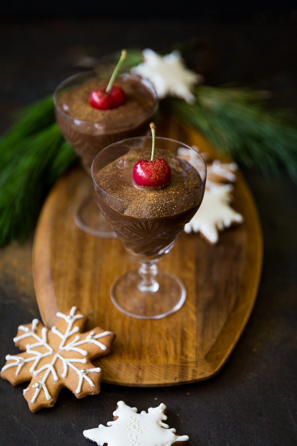 Chocolate peanut butter mousse - Plant based Christmas!