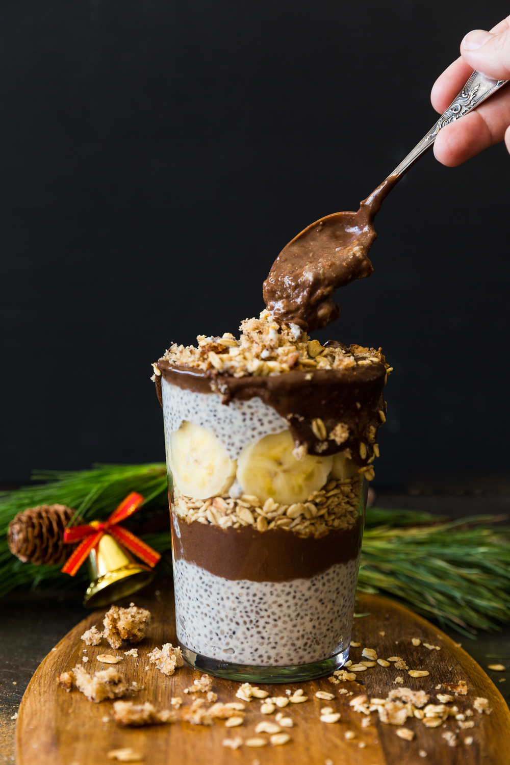 Christmas Chocolate Chia Trifle