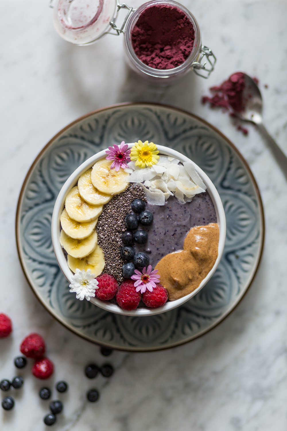 Sweet potato and Acai smoothie bowl