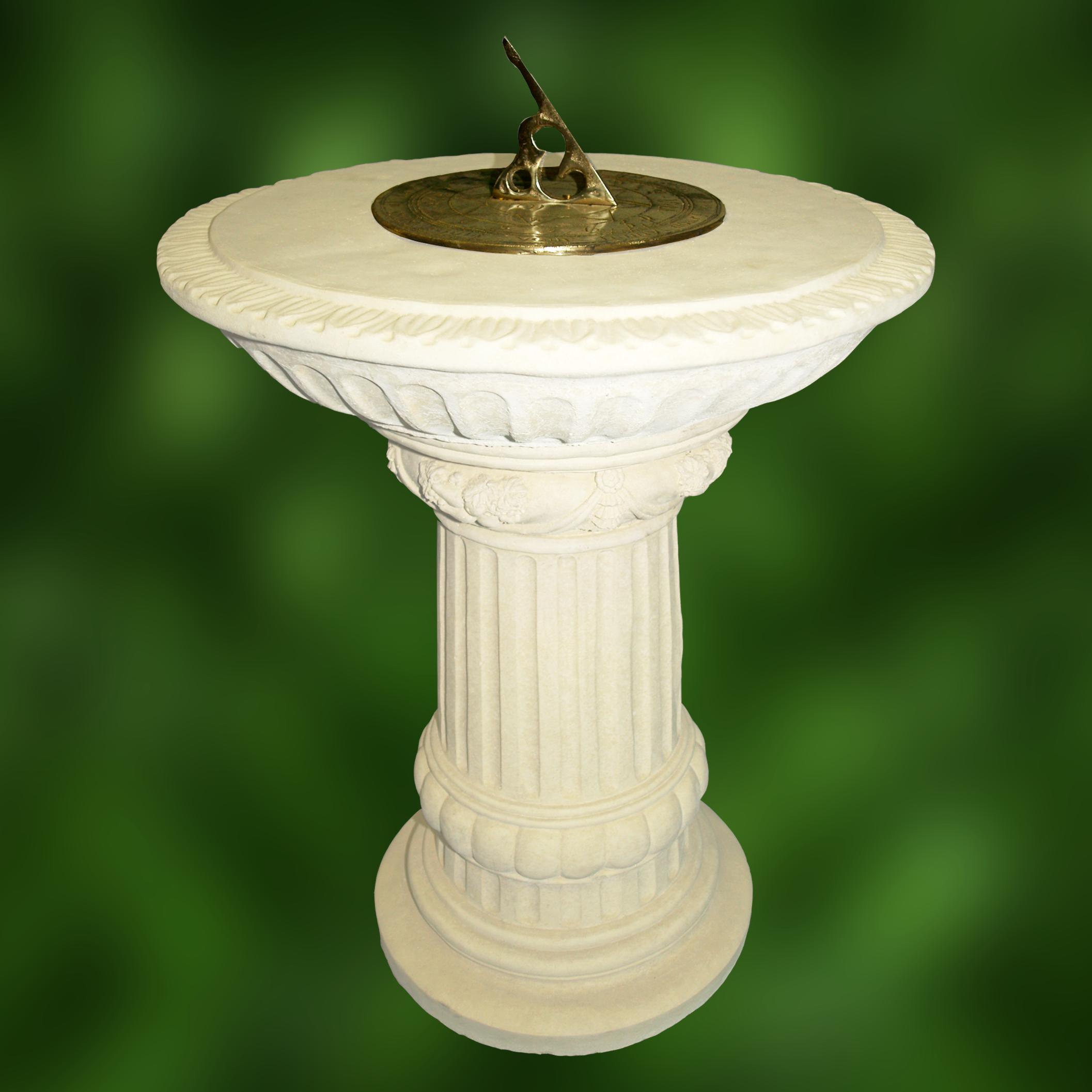 shenandoah with pedestal concrete aluminum sundial