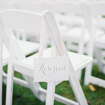 Wedding Ceremony Ideas, Reserved, Romantic