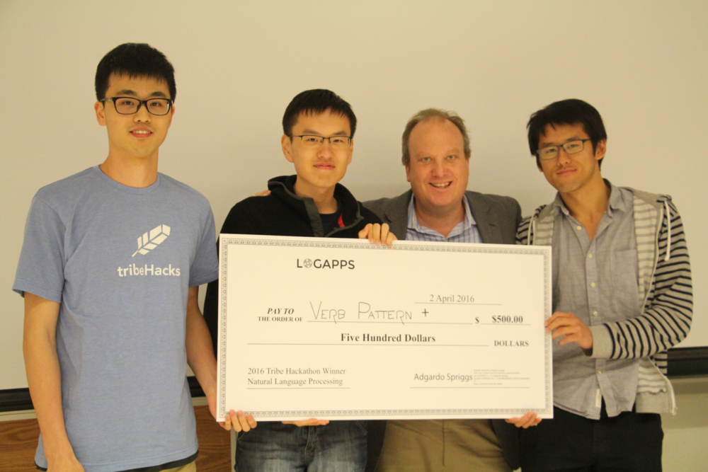 Winners from Team Verb Pattern + with Kevin McKeel, Managing Partner