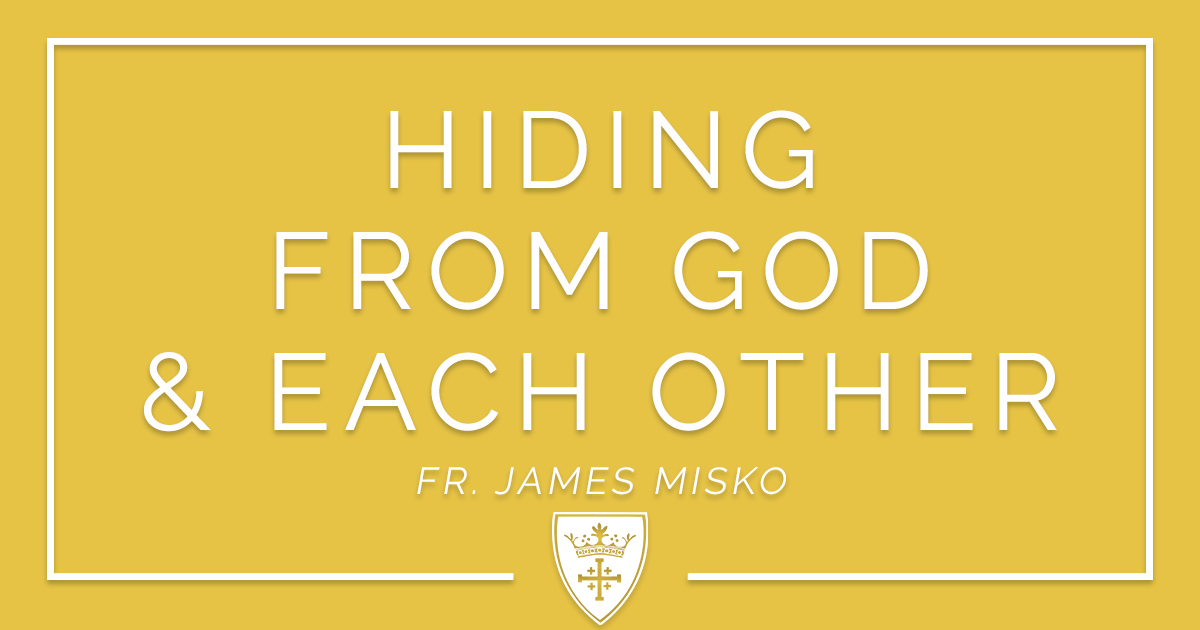 Hiding From God & Each Other — St Louis King of France Catholic
