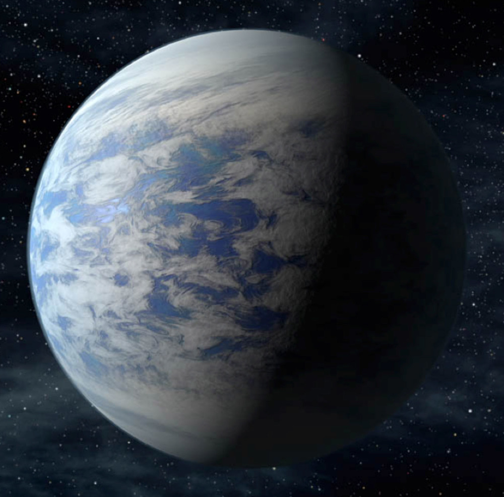 An artist's rendition of the exoplanet Kepler-69c, which is 1.7 times larger than the Earth. Credit: NASA/Ames/JPL-Caltech