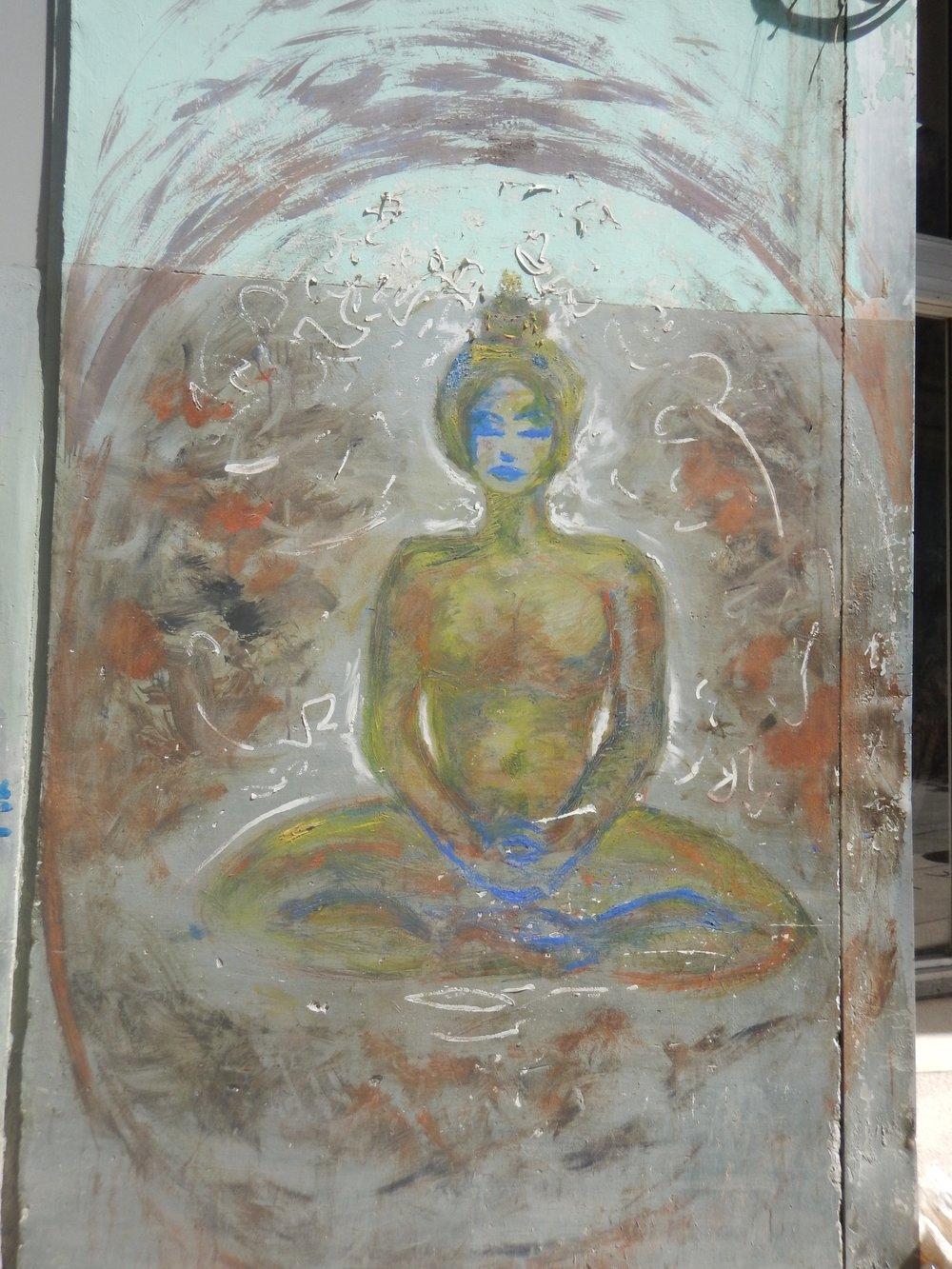 meditation quiet street art cuba buddha