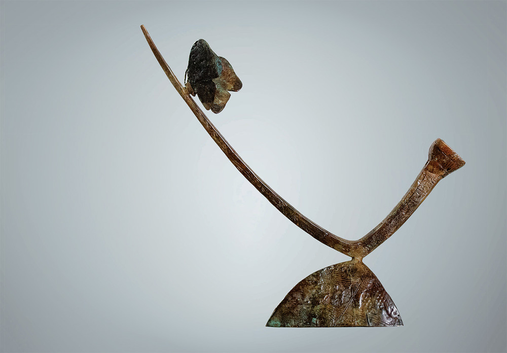 JIVKO, Fragility, Bronze sculpture