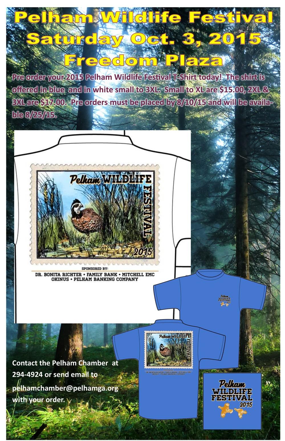 Wildlife Festival T-Shirt Order