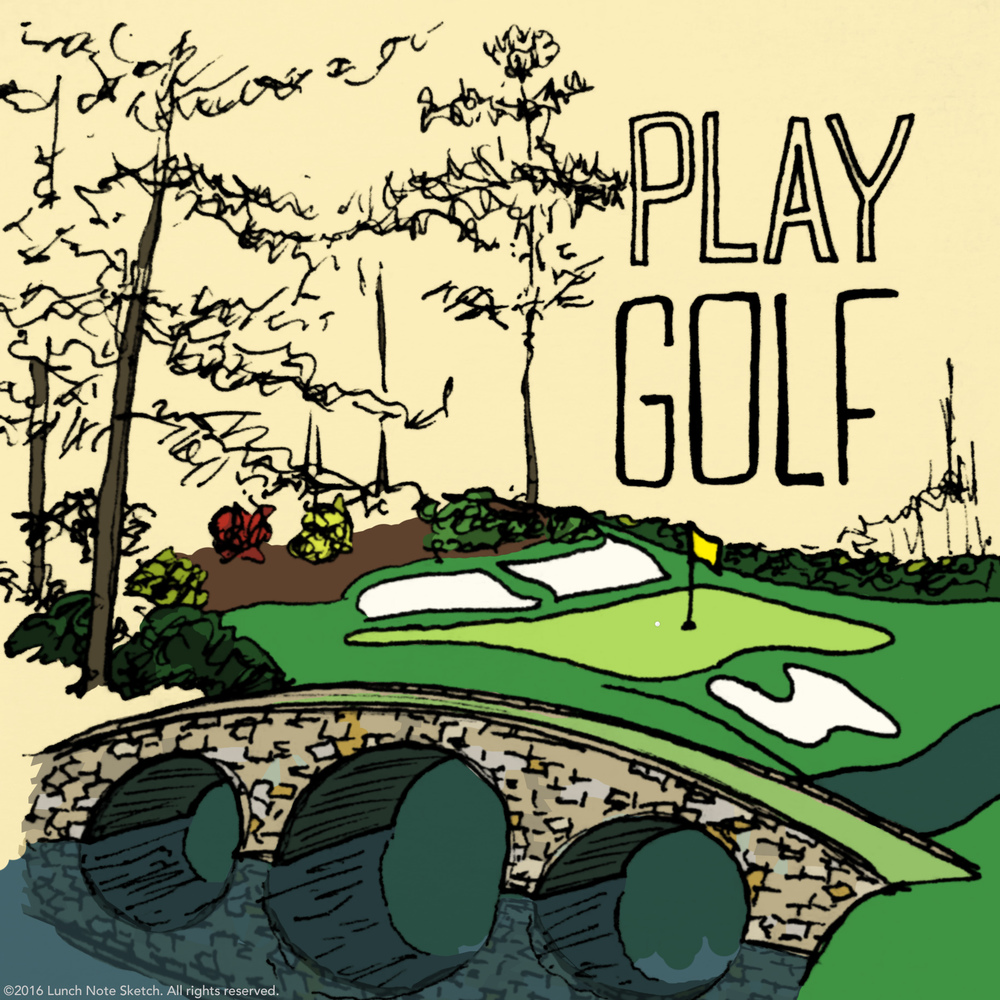 """Play golf"" posted on Masters Sunday was one of the most popular sketches."