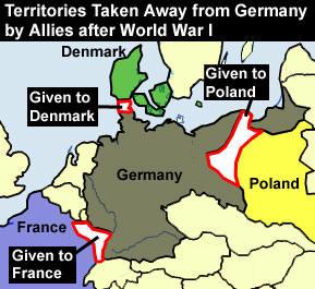 Ehemalige Deutsche Ostgebiete International Voices Project - Germany map after ww1