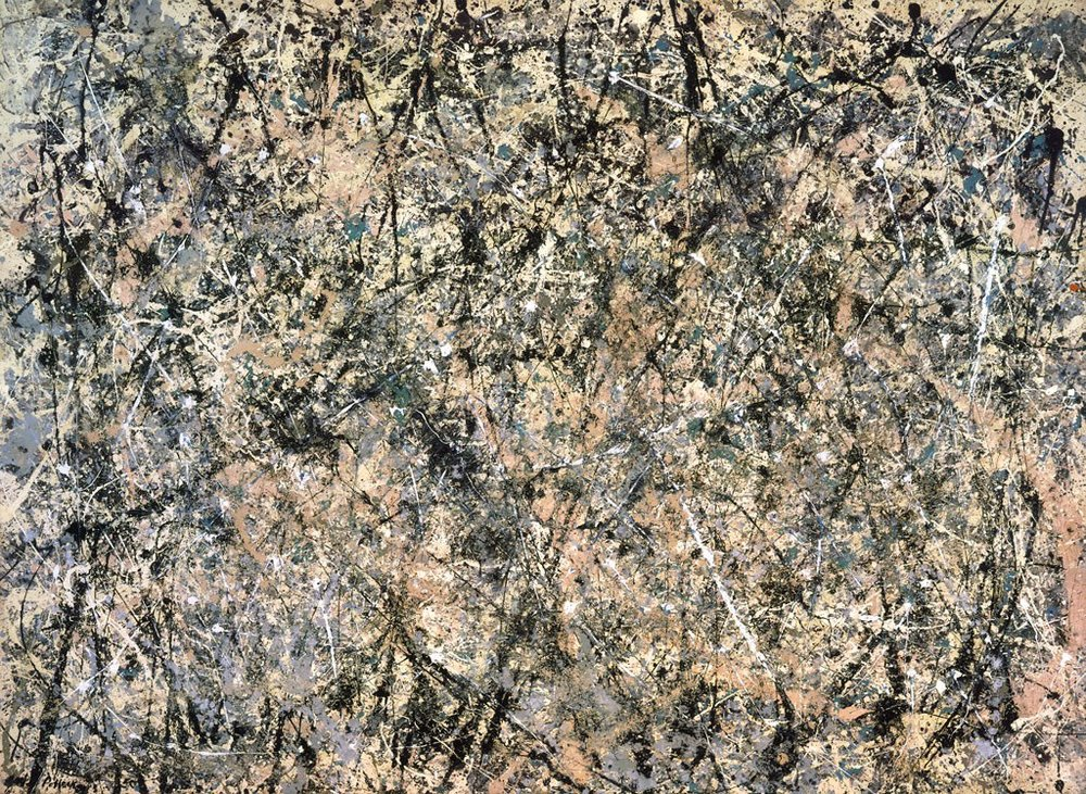 "Jackson Pollock,  Number 1, 1950 (Lavender Mist) , 1950 Oil, enamel, and aluminum on canvas, 87"" x 118"",  2017 The Pollock- Krasner Foundation / Artists Rights Society (ARS), New York"