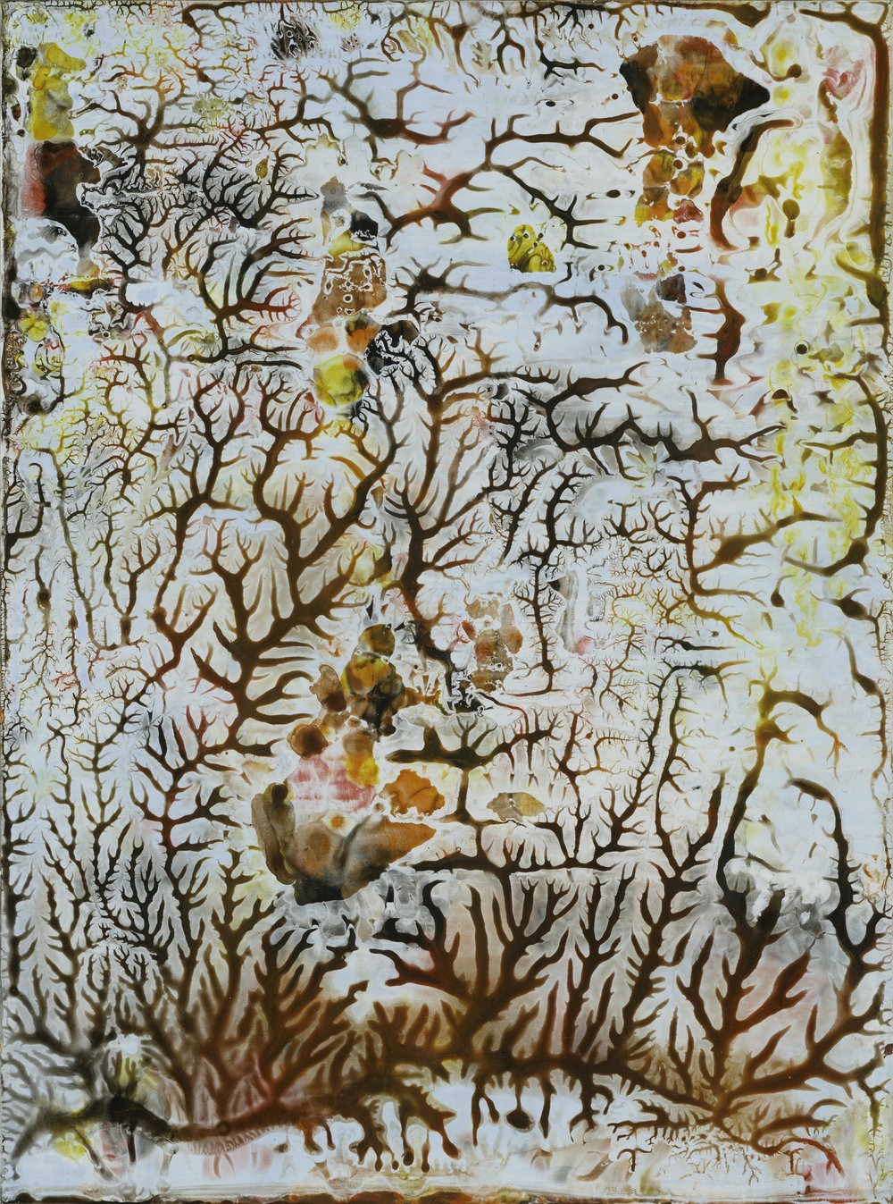 Karen Barth,  End of Autumn,  2015, Archival pigment on paper, mounted on panel, 48″ x 36″