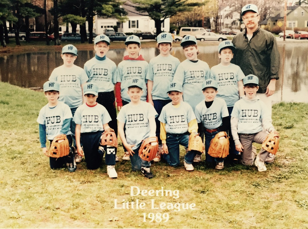 Mr. Kress and team Hub Furniture of Deering Center Little League in 1989.