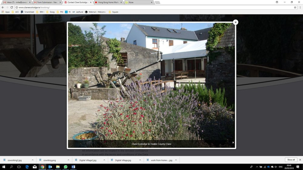 Clare Ecolodge   Having discovered coworking while traveling the Loughnanes have set p their own Coworkiation location in Feakle, Co. Clare.  Holiday and cowork in the wesy of Irelad. individuals or groups.  Trype:  Coworkation  Quick COntact:   +353 (0) 61 924200   nfo@clareecolodge.ie