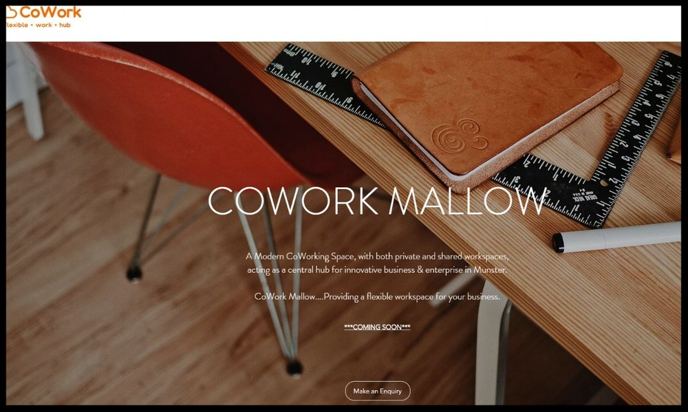 CoWork Mallow.... Providing a flexible workspace for your business.A Modern CoWorking Space, with both private and shared workspaces, acting as a central hub for innovative business & enterprise in Munster.  QUICK CONTACT:  +353 (0)22 69328   ContacT-US
