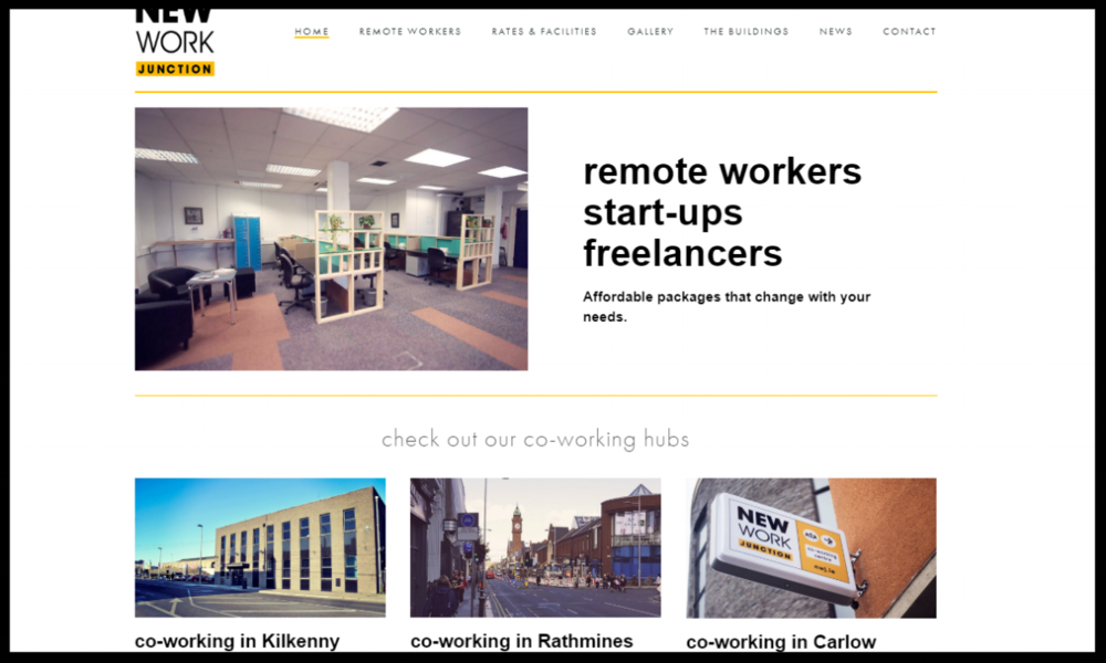 NEW Work Junction, Rathmines Ideal for freelancers, start-ups, SME's and remote workers.. Affordable packages that change with your needs.   Quick Contact:  +353 (0)1 559 6828