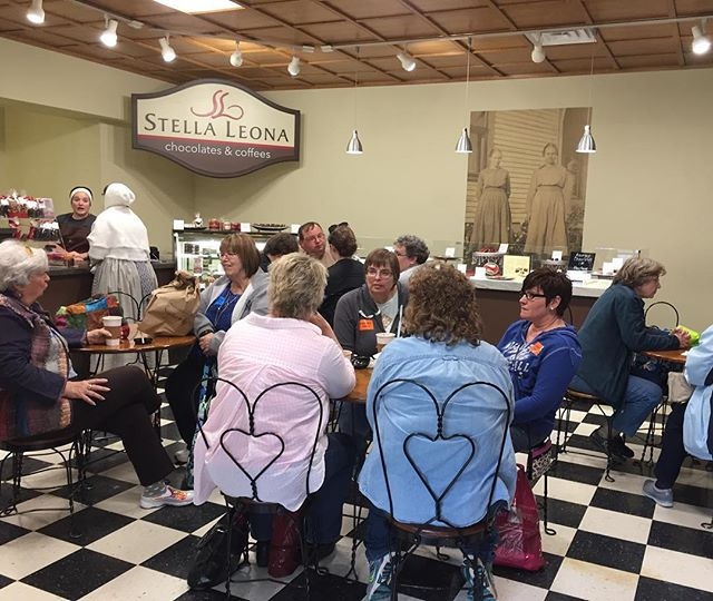Rainy days mean it's a full house in our shop at @sauder_village!