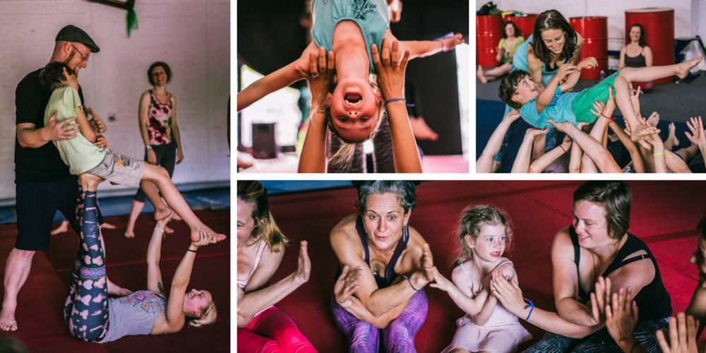 Family AcroYoga in Denmark - We now open classes for children 3-6 years, 7-12 years and for children with disabilities. Read more here.