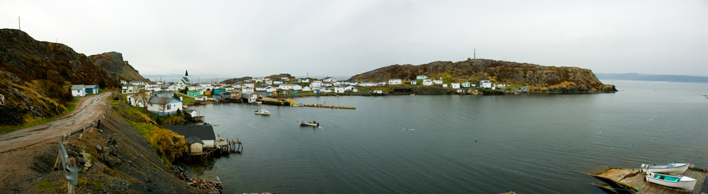 Rural Fishing Village Panoramic