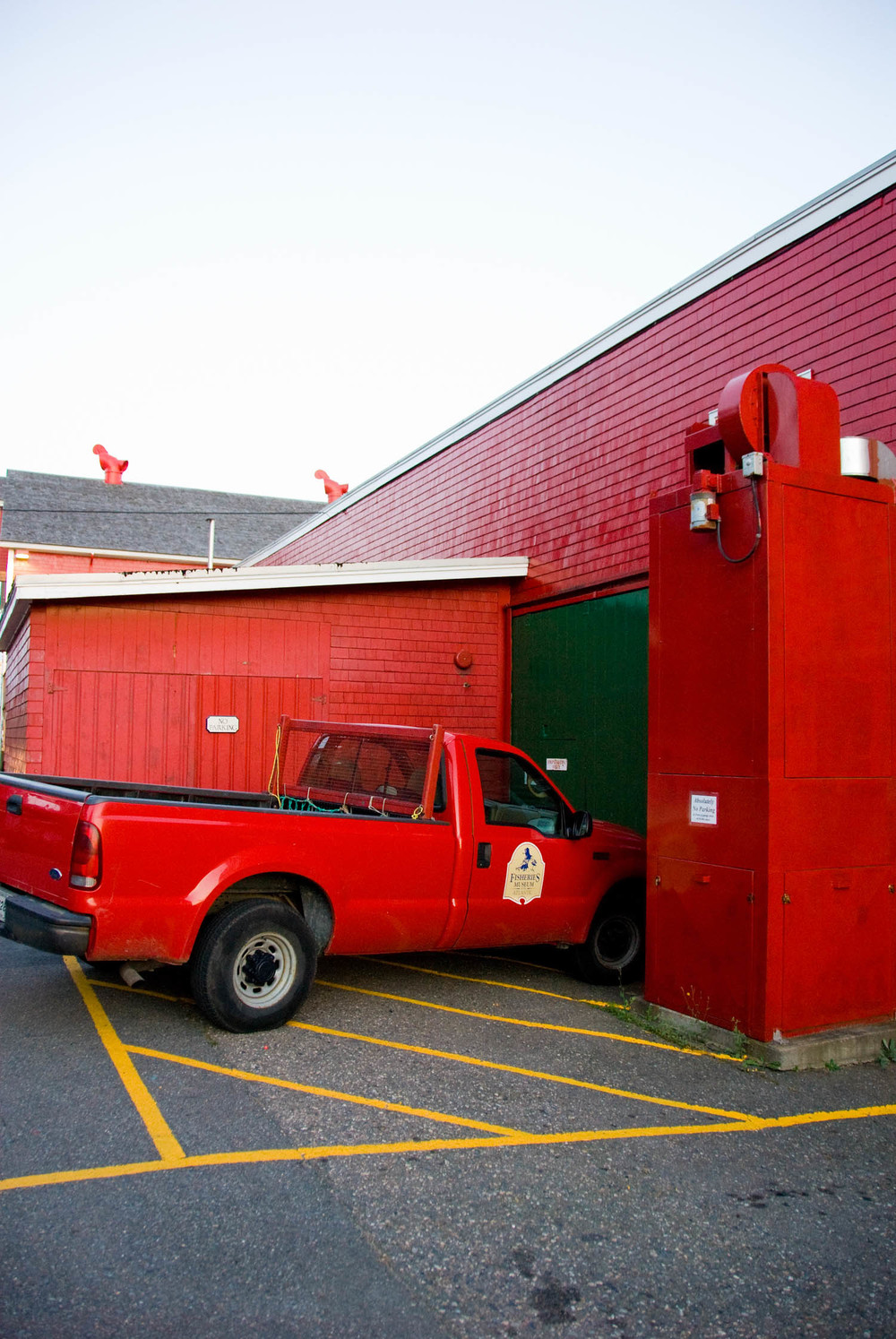 Red Truck Red Building