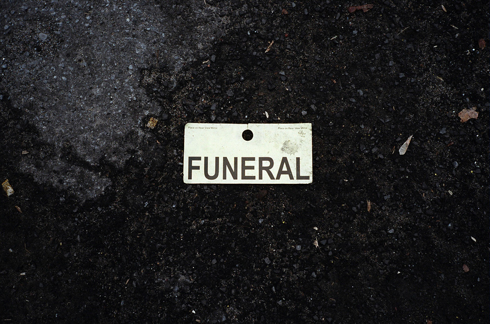 Funeral Sign