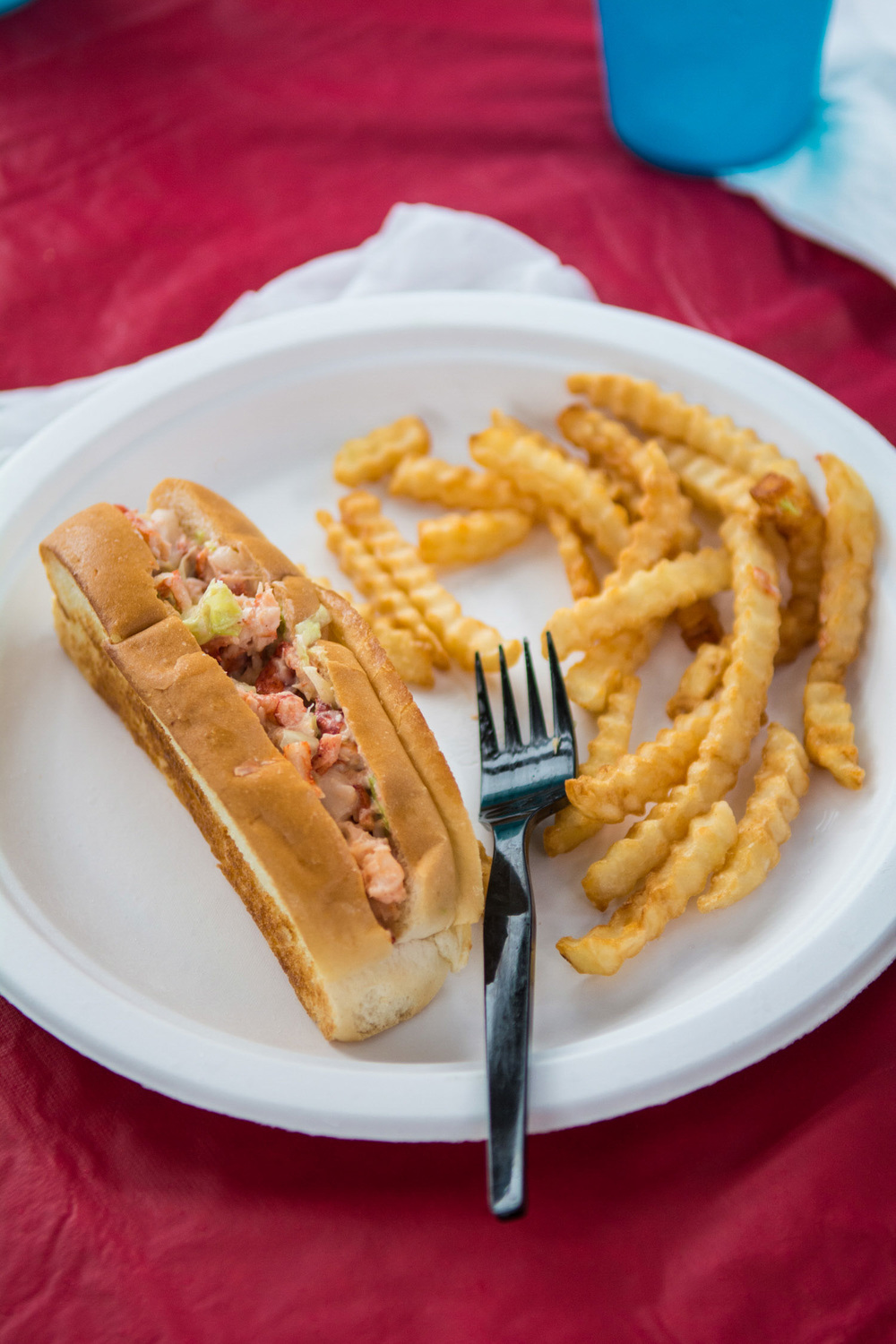 New Brunswick Lobster Roll and French Fries