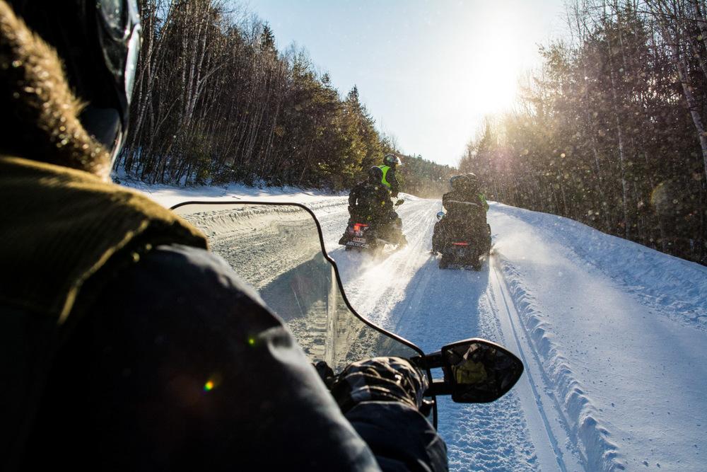 Snowmobile Snowmobiling