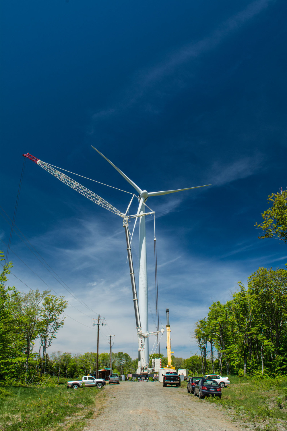 Crane and Wind Turbine