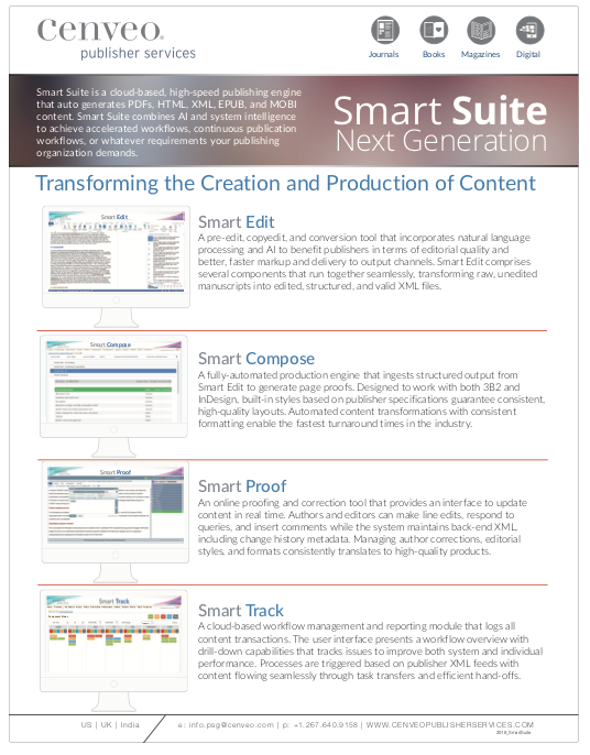 Smart Suite by Cenveo Publisher Services