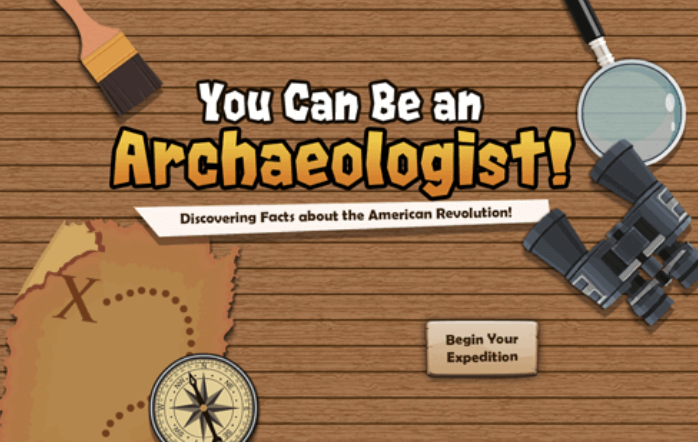 k12 sample: you can be an archaeologist