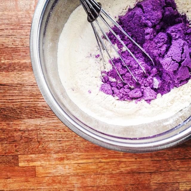 Ube cookies!!!!! @buttermilkinc #artisan #cookies #foodie #igers #instagood #la #noeycakes #purpleyam #ube #yum
