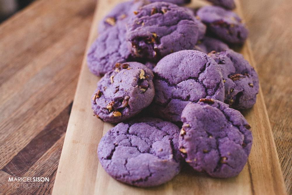 Ube Pecan Cookies