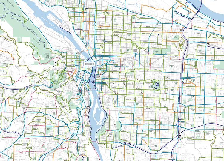 The Urban Bike Map, sans spaghetti — Informing Design, Inc.