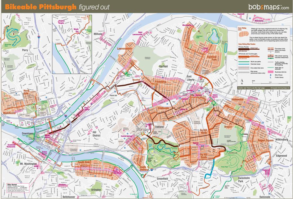 The Urban Bike Map sans spaghetti Informing Design Inc