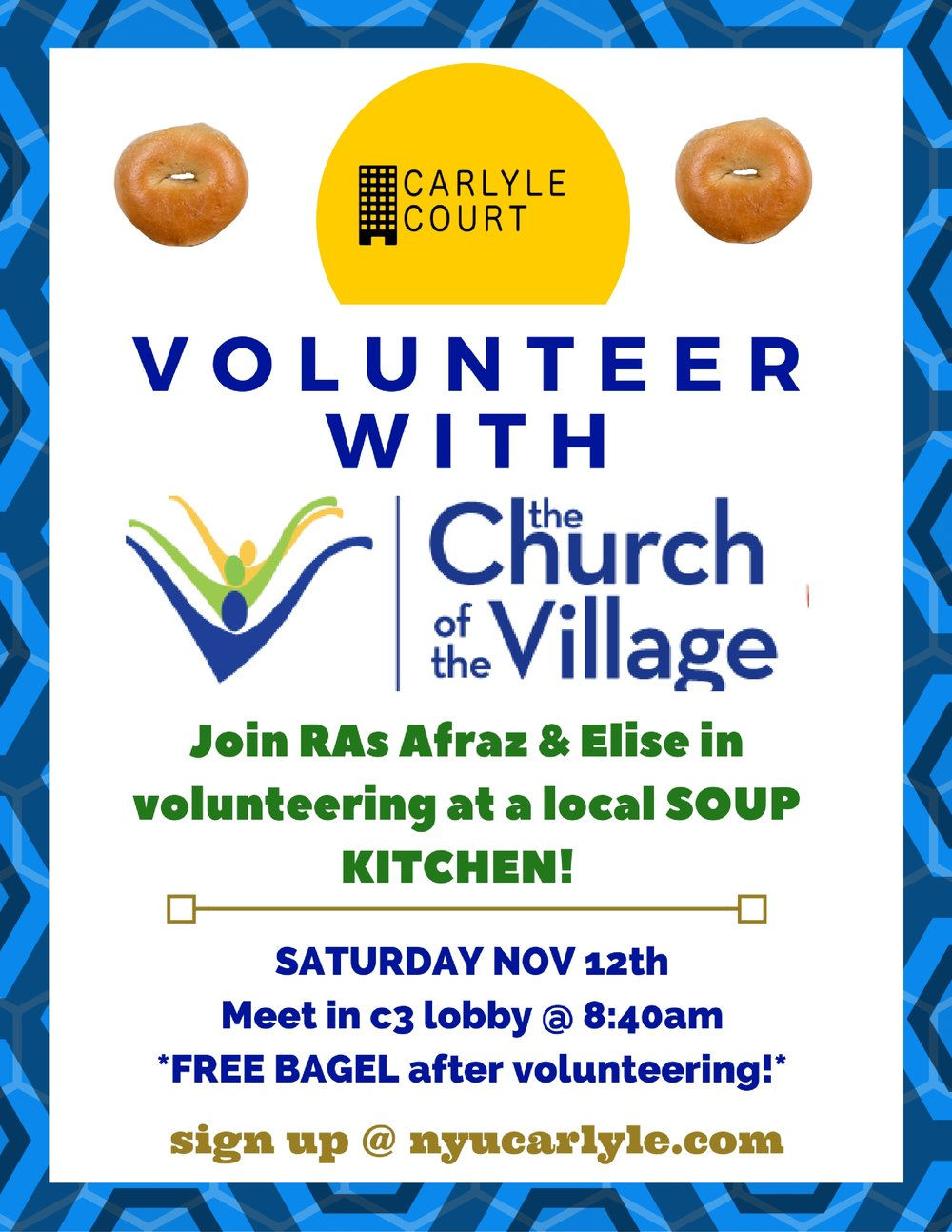 Volunteer at the Church of the Village Soup Kitchen! — Carlyle Court
