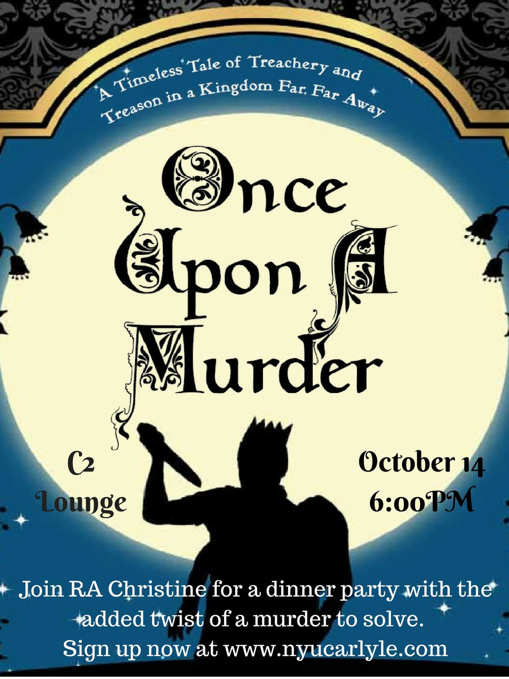 Join RA Christine for a dinner party with the added twist of a murder to solve..jpg