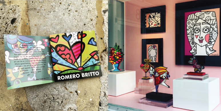 romero britto art gallery miami � kimberly schwede design